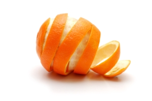 Rind  of orange cutaway in spiral shape