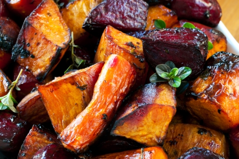 Roasted Carrots, Beets & Sweet Potatoes